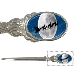 Santa Claus Christmas Fly Moon Night Blue Sky Letter Openers