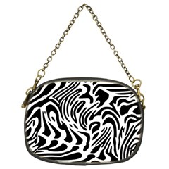 Psychedelic Zebra Pattern Black Chain Purses (one Side)