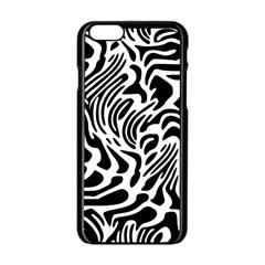 Psychedelic Zebra Pattern Black Apple Iphone 6/6s Black Enamel Case