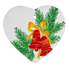 New Year Christmas Bells Tree Ornament (heart)