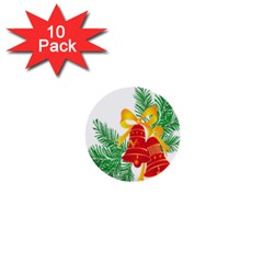 New Year Christmas Bells Tree 1  Mini Buttons (10 Pack)