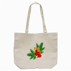 New Year Christmas Bells Tree Tote Bag (cream)