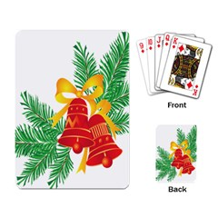 New Year Christmas Bells Tree Playing Card