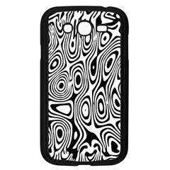 Psychedelic Zebra Black Circle Samsung Galaxy Grand Duos I9082 Case (black)