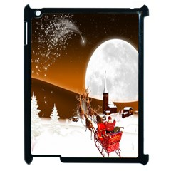Santa Claus Christmas Moon Night Apple Ipad 2 Case (black)