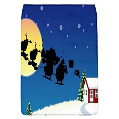 Santa Claus Christmas Sleigh Flying Moon House Tree Flap Covers (l)
