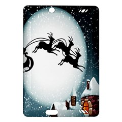 Santa Claus Christmas Snow Cool Night Moon Sky Amazon Kindle Fire Hd (2013) Hardshell Case
