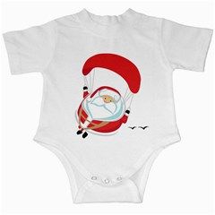 Skydiving Christmas Santa Claus Infant Creepers