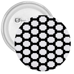 Tile Pattern Black White 3  Buttons