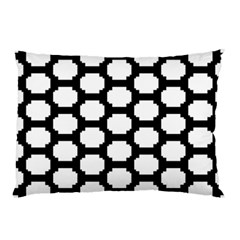Tile Pattern Black White Pillow Case