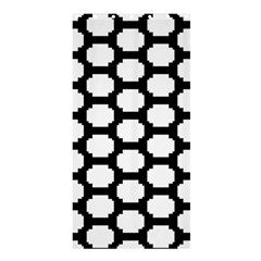Tile Pattern Black White Shower Curtain 36  X 72  (stall)