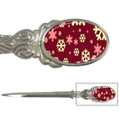 Snowflake Winter Illustration Colour Letter Openers
