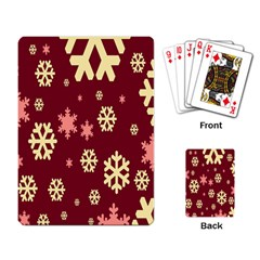 Snowflake Winter Illustration Colour Playing Card