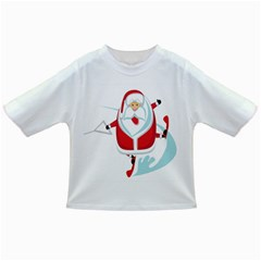 Surfing Snow Christmas Santa Claus Infant/toddler T Shirts
