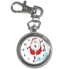 Surfing Snow Christmas Santa Claus Key Chain Watches