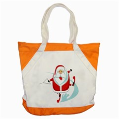 Surfing Snow Christmas Santa Claus Accent Tote Bag