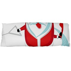Surfing Snow Christmas Santa Claus Body Pillow Case Dakimakura (two Sides)