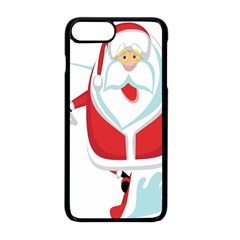 Surfing Snow Christmas Santa Claus Apple Iphone 8 Plus Seamless Case (black)