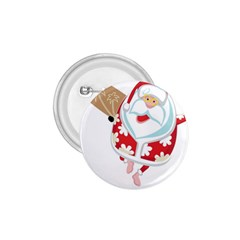 Surfing Christmas Santa Claus 1 75  Buttons