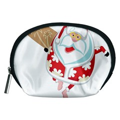 Surfing Christmas Santa Claus Accessory Pouches (medium)