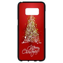 Tree Merry Christmas Red Star Samsung Galaxy S8 Black Seamless Case