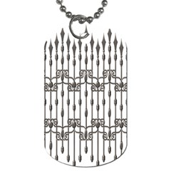 Iron Fence Grey Strong Dog Tag (two Sides)