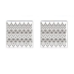 Iron Fence Grey Strong Cufflinks (square)