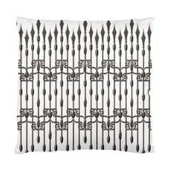 Iron Fence Grey Strong Standard Cushion Case (two Sides)