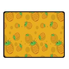 Fruit Pineapple Yellow Green Fleece Blanket (small)