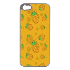 Fruit Pineapple Yellow Green Apple Iphone 5 Case (silver)