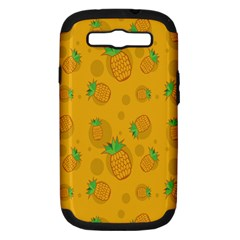 Fruit Pineapple Yellow Green Samsung Galaxy S Iii Hardshell Case (pc+silicone)