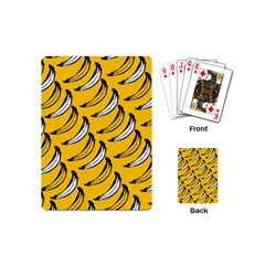 Fruit Bananas Yellow Orange White Playing Cards (mini)