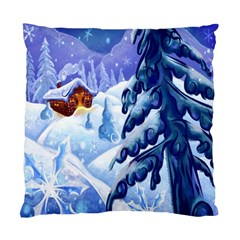 Christmas Wooden Snow Standard Cushion Case (two Sides)