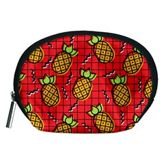 Fruit Pineapple Red Yellow Green Accessory Pouches (medium)