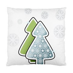Tree Spruce Xmasts Cool Snow Standard Cushion Case (two Sides)