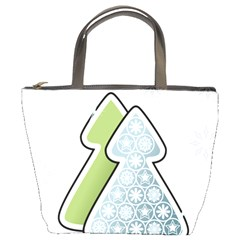 Tree Spruce Xmasts Cool Snow Bucket Bags