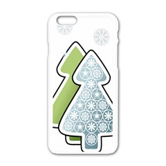 Tree Spruce Xmasts Cool Snow Apple Iphone 6/6s White Enamel Case