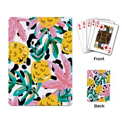 Fruit Pattern Pineapple Leaf Playing Card
