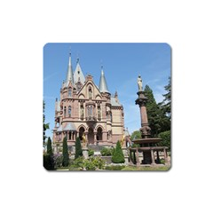 Schloss Drachenburg On Drachenfels Magnet (square)