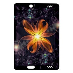 Beautiful Orange Star Lily Fractal Flower At Night Amazon Kindle Fire Hd (2013) Hardshell Case