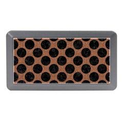 Circles2 Black Marble & Brown Denim Memory Card Reader (mini)