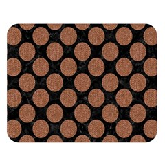 Circles2 Black Marble & Brown Denim (r) Double Sided Flano Blanket (large)