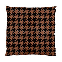 Houndstooth1 Black Marble & Brown Denim Standard Cushion Case (two Sides)