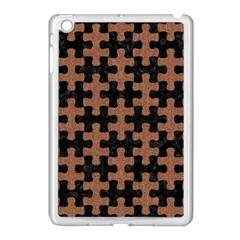 Puzzle1 Black Marble & Brown Denim Apple Ipad Mini Case (white)