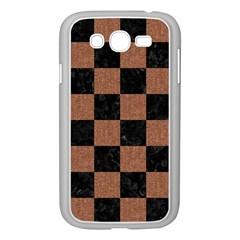 Square1 Black Marble & Brown Denim Samsung Galaxy Grand Duos I9082 Case (white)