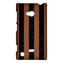 Stripes1 Black Marble & Brown Denim Nokia Lumia 720