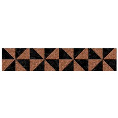 Triangle1 Black Marble & Brown Denim Small Flano Scarf