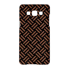 Woven2 Black Marble & Brown Denim (r) Samsung Galaxy A5 Hardshell Case
