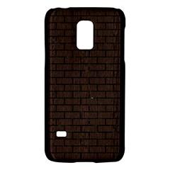 Brick1 Black Marble & Dark Brown Wood Galaxy S5 Mini