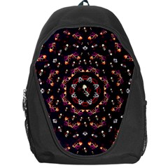 Floral Skulls In The Darkest Environment Backpack Bag